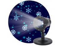 ENIOP-04 ЭРА Проектор LED Снежинки мультирежим холодный свет 220V, IP44 (8/280)