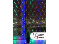 ENIS-01M ЭРА Гирлянда LED Сеть 1,8 м*1,5 м мультиколор, мультирежим, 220V, IP20 (60/540)