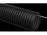 Труба гофр.ПНД d 20 с зондом (10 м) IEK черный