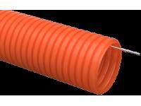 Труба гофр. ПНД d25 с зондом оранжевая тяжелая (50м) IEK