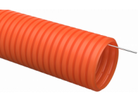 Труба гофр. ПНД d32 с зондом оранжевая тяжелая (25м) IEK