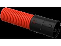 Труба гофр. двустенная ПНД d=90мм красная (100м) IEK