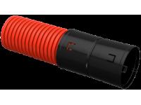 Труба гофр. двустенная ПНД d=110мм красная жесткая (6м) IEK