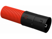 Труба гофр. двустенная ПНД d=110мм красная (50м) IEK
