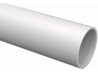 Труба гладкая жесткая ПВХ d40 ИЭК серая (24м),3м