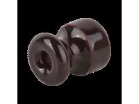 WL18-17-02/ Комплект изоляторов без винта 100 шт. (коричневый) Ретро