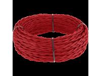 Ретро кабель витой 2х1,5 (красный) под заказ