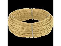 Ретро кабель витой 2х1,5 (золотой песок) под заказ 20 м