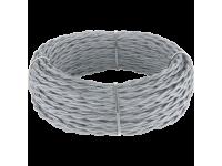 Ретро кабель витой 2х1,5 (серый) под заказ 20 м