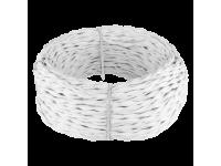 Ретро кабель витой 2х2,5 (белый) 20м