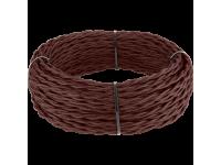 Ретро кабель витой 2х1,5 (итальянский орех) под заказ 20 м