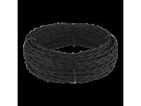Ретро кабель витой 2х1,5 (черный)