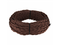 Ретро кабель витой 2х1,5 (коричневый) 20м