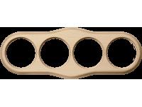 WL20-frame-04 / Рамка на 4 поста (светлый бук)