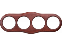 WL20-frame-04 / Рамка на 4 поста (итальянский орех)