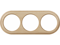 WL15-frame-03 / Рамка на 3 поста (светлый бук)