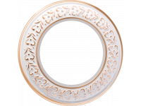 WL70-frame-01/ Рамка на 1 пост (белое золото)