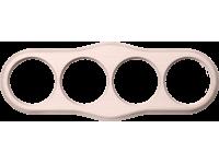 WL20-frame-04 / Рамка на 4 поста (беленый дуб)