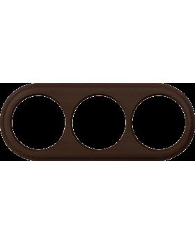 WL15-frame-03 / Рамка на 3 поста (венге)