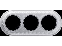 WL70-frame-03/ Рамка на 3 поста (жемчужный)