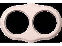 WL20-frame-02 / Рамка на 2 поста (беленый дуб)