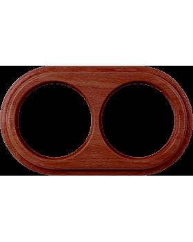 WL15-frame-02 / Рамка на 2 поста (итальянский орех)
