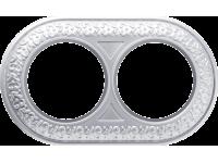 WL70-frame-02/ Рамка на 2 поста (жемчужный)