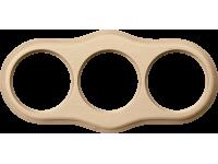 WL20-frame-03 / Рамка на 3 поста (светлый бук)