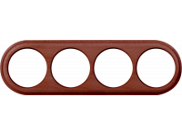 WL15-frame-04 / Рамка на 4 поста (итальянский орех)