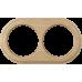WL15-frame-02 / Рамка на 2 поста (светлый бук)