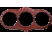WL20-frame-03 / Рамка на 3 поста (итальянский орех)