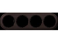 WL15-frame-04 / Рамка на 4 поста (венге)