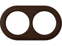 WL15-frame-02 / Рамка на 2 поста (венге)