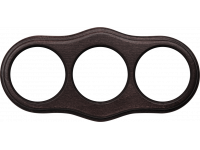 WL20-frame-03 / Рамка на 3 поста (венге)