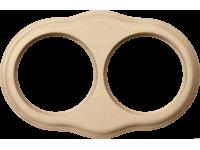 WL20-frame-02 / Рамка на 2 поста (светлый бук)