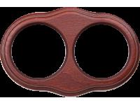 WL20-frame-02 / Рамка на 2 поста (итальянский орех)