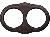 WL20-frame-02 / Рамка на 2 поста (венге)