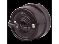 WL18-01-05/ Выключатель на 4 положения двухклавишный (коричневый) Ретро