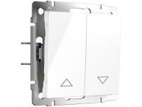 WL01-01-02/ Выключатель жалюзи (белый)