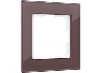 WL01-Frame-01 / Рамка на 1 пост (мокко,стекло)