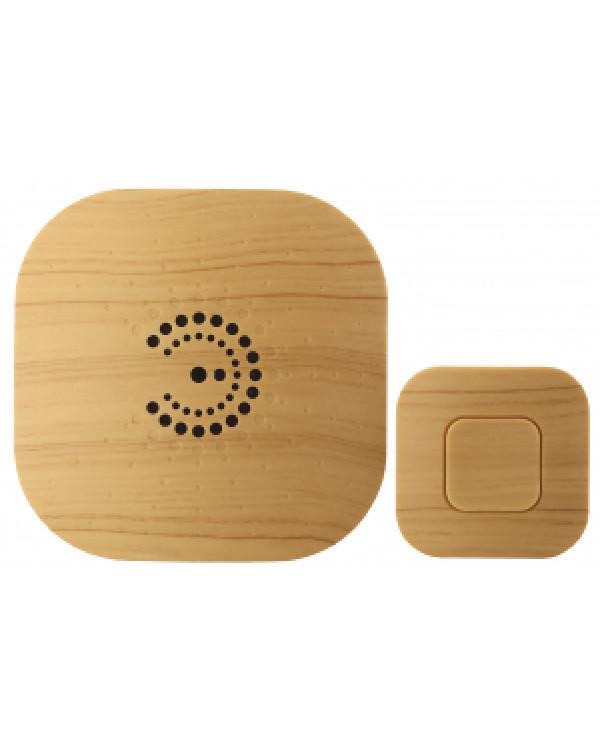 Звонок ЭРА BIONIC Bright wood беспроводной (10/60/480), 90635
