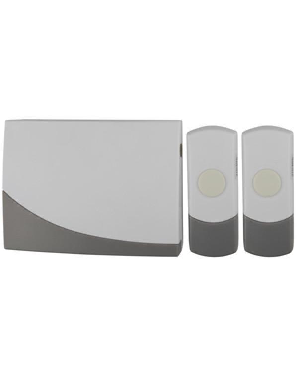 Звонок ЭРА C91-2 беспроводной, две кнопки (нов.упак) (10/60/480), C91-2